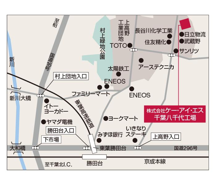 千葉八千代工場地図